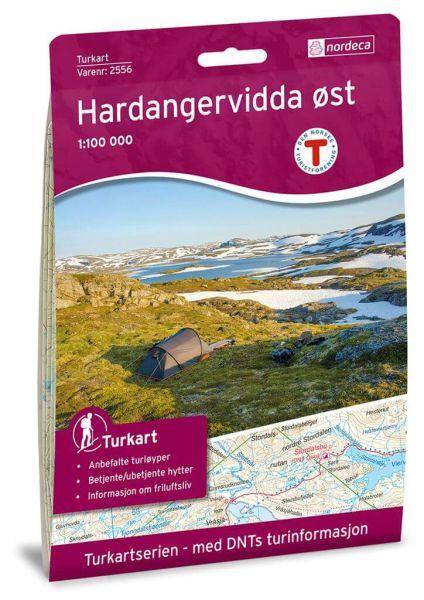 Norwegen topographische Wanderkarte Hardangervidda Ost 1:100.000, Turkart 2556