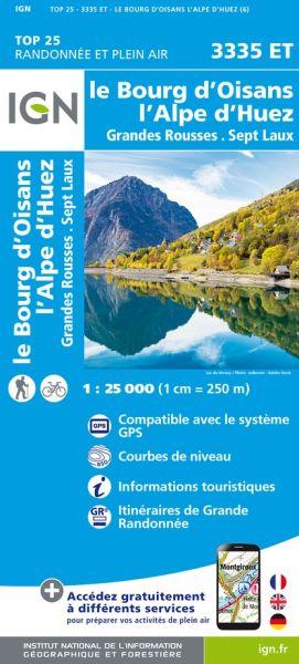 IGN 3335 ET Le Bourg-d'Oisans, Frankreich Wanderkarte 1:25.000