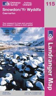 Landranger 115 Snowdon / Yr Wyddfa, Großbritannien Wanderkarte 1:50.000