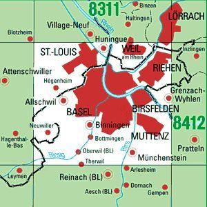 8411 WEIL AM RHEIN topographische Karte 1:25.000 Baden-Württemberg, TK25