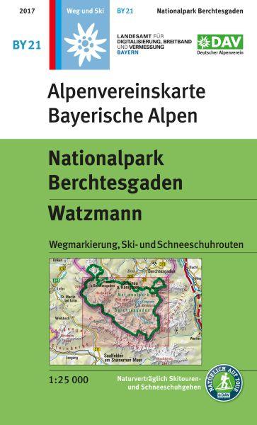 Alpenvereinskarte BY21 Nationalpark Berchtesgaden Wanderkarte 1:25.000