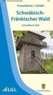 Schwäbisch Hall Freizeitkarte in 1:50.000 - F518 mit Rad- und Wanderwegen
