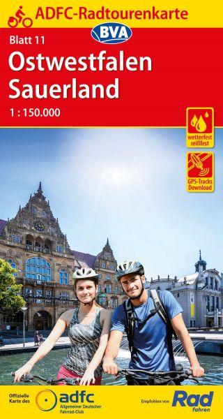 ADFC Radtourenkarte 11, Ostwestfalen - Sauerland Radwanderkarte 1:150.000