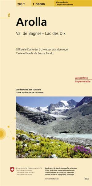 283 T Arolla Wanderkarte 1:50.000 - Swisstopo