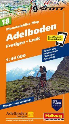 Hallwag Mountainbike Map Bl.18, Adelboden, Frutigen, Lenk, 1:40.000, Wasser- und reißfest
