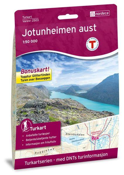 Jotunheimen Ost / Aust Wanderkarte 1:50.000 – Norwegen, Turkart 2503 von Nordeca