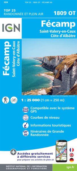 IGN 1809 OT Fecamp, St-Valery-en-Caux, Frankreich Wanderkarte 1:25.000