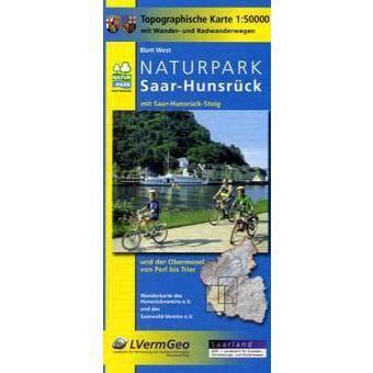 Naturpark Saar-Hunsrück West Wanderkarte / Radkarte 1:50.000