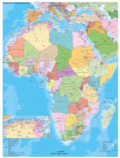Grosses Politisches Afrika Poster 97x119cm Stiefel Verlag