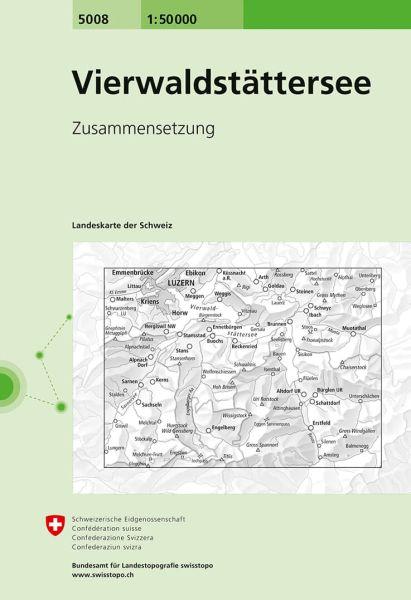 5008 Vierwaldstättersee topographische Wanderkarte Schweiz 1:50.000