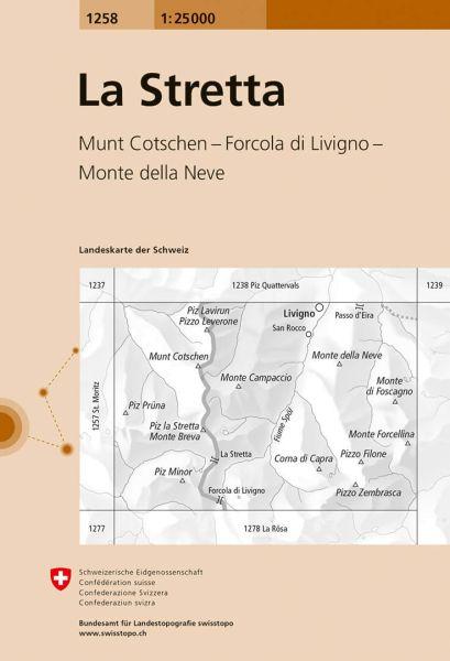 1258 La Stretta topographische Karte Schweiz 1:25.000