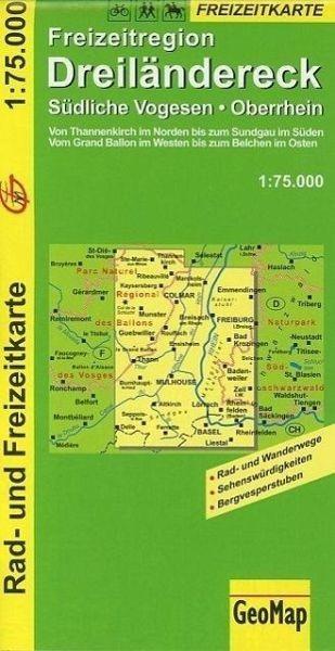 Freizeitkarte für das Dreiändereck (D/F/CH) in 1:75.000, Wandern, Rad