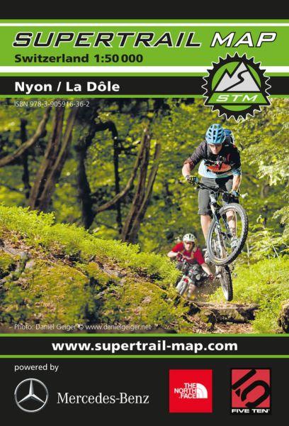 Supertrail Map Nyon / La Dole Mountainbike-Karte, 1:50.000, Wasser- und reissfest (STM)