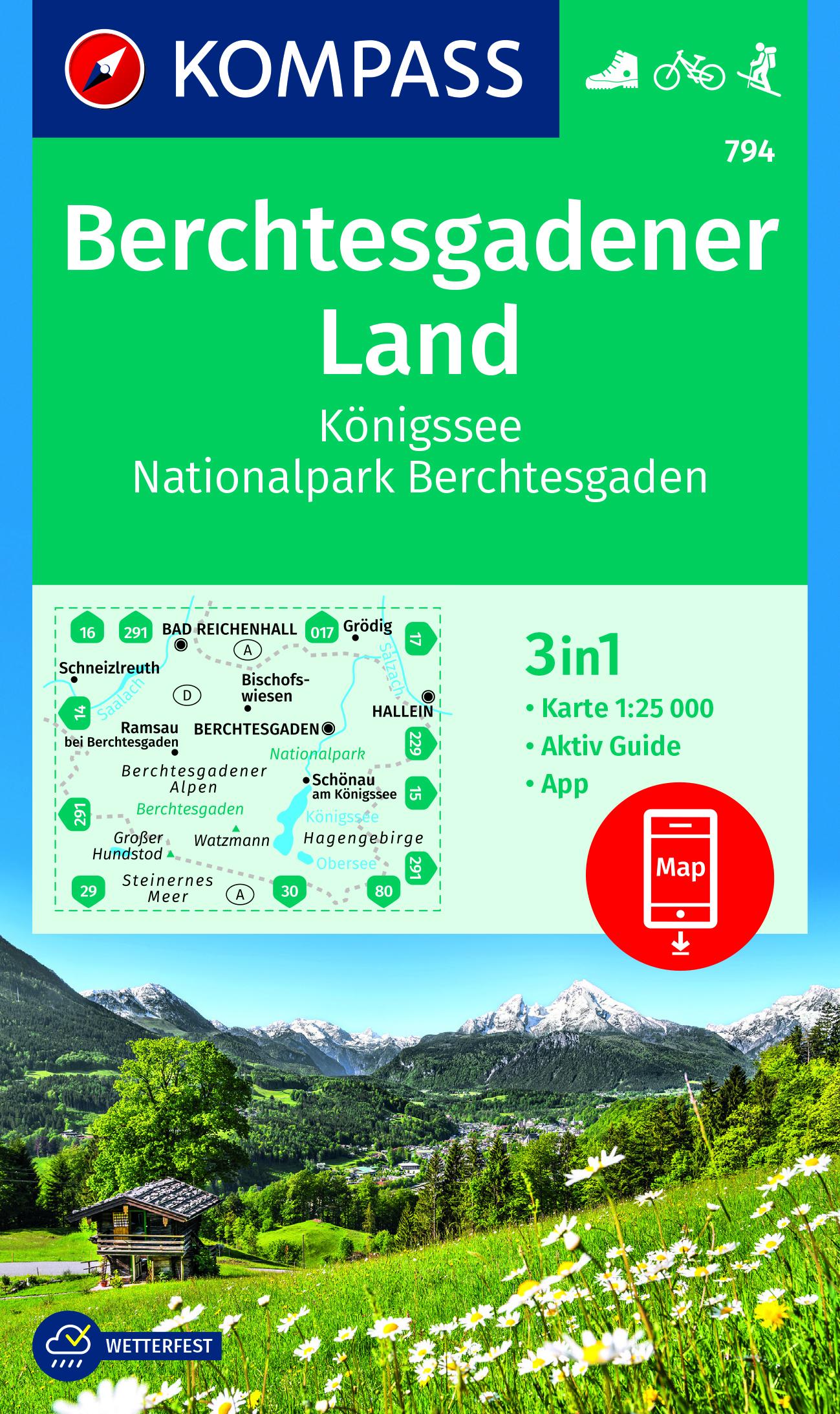 Berchtesgadener Land Karte.Kompass Karte 794 Berchtesgadener Land 1 25 000 Wandern