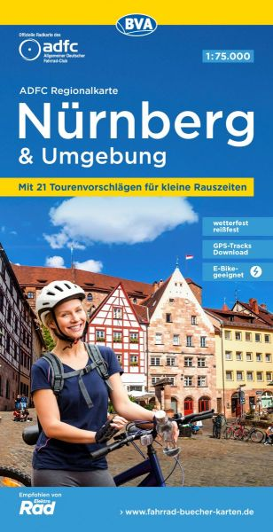 ADFC-Regionalkarte, Nürnberg und Umgebung Radwanderkarte