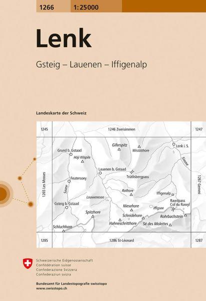 1266 Lenk topographische Karte Schweiz 1:25.000