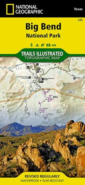 Big Bend National Park Trail Map (225), National Geographic