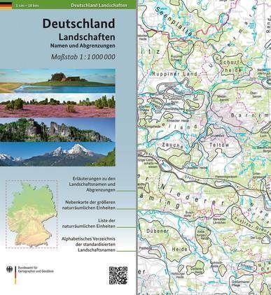Deutschland Landschaften - Namen und Abgrenzungen 1:1.000.000 - BKG