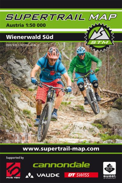 Supertrail Map Wienerwald Süd Mountainbike-Karte, Bike-Karte 1:50.000, Wasser- / reissfest (STM)