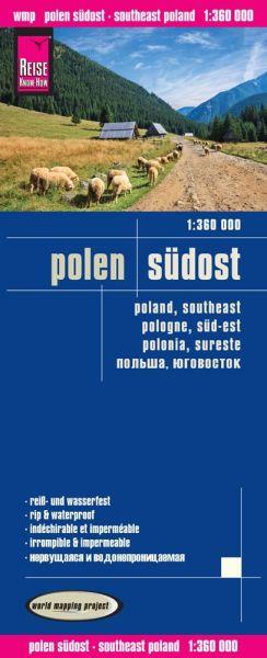 Polen Südost Landkarte 1:360.000, Reise Know-How