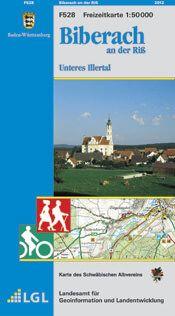 Biberach an der Riß Freizeitkarte in 1:50.000 - F528 mit Rad- und Wanderwegen