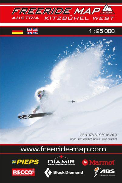 Freeride Map Kitzbühel West, Skitourenkarte 1:25.000
