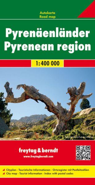 Pyrenäenländer, Straßenkarte 1:400.000, Freytag und Berndt