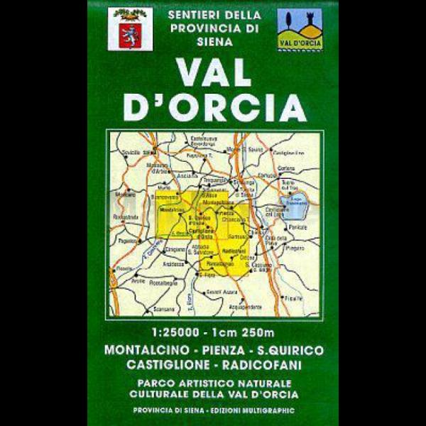 Edition Multigraphic 515, Val d'Orcia Wanderkarte; Toskana, 1:25.000