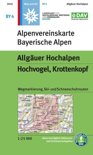 Alpenvereinskarte BY4 Allgäuer Hochalpen Wanderkarte 1:25.000