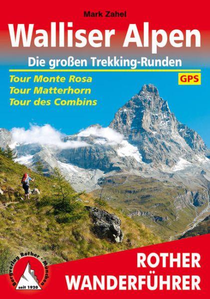 Walliser Alpen Wanderführer: Die großen Wanderbuch, Rother