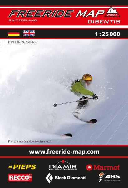 Freeride Map Disentis, Skitourenkarte 1:25.000