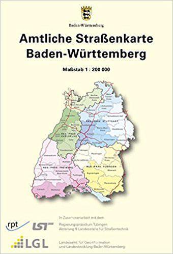 ASK Amtliche Straßenkarte Baden-Württemberg, 1:200.000