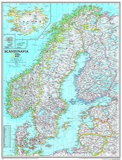 Ngs Poster Skandinavien Landkarte 1 2 765 000