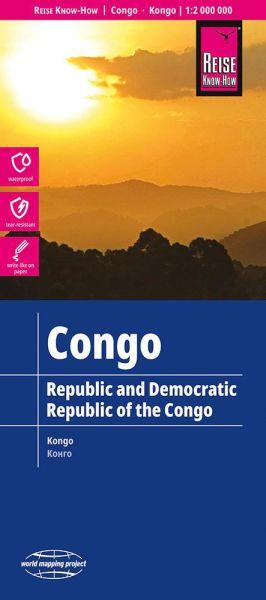 Kongo Landkarte 1:2.000.000, Reise Know-How