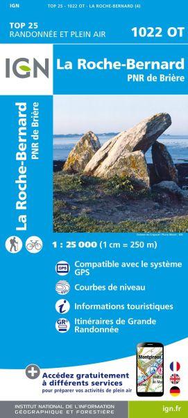 IGN 1022 OT La Roche-Bernard / PNR de Brière, Frankreich Wanderkarte 1:25.000