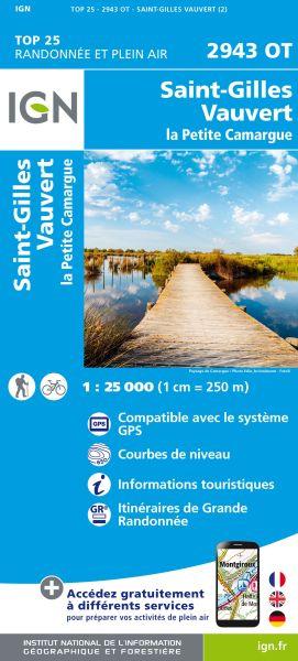 IGN 2943 OT St-Gilles / Vauvert, Frankreich Wanderkarte 1:25.000
