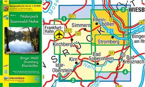 Naturpark Soonwald-Nahe Blatt 3: Binger Wald Wanderkarte 1:25.000