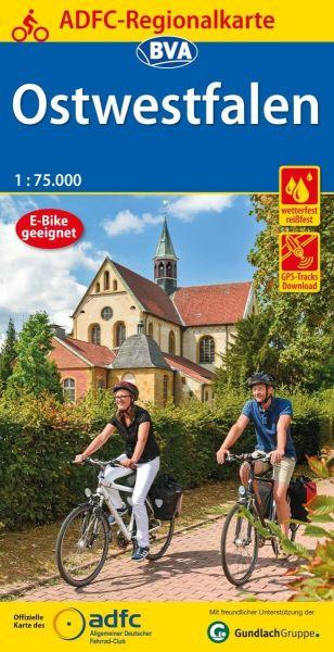ADFC-Regionalkarte, Ostwestfalen, Radwanderkarte