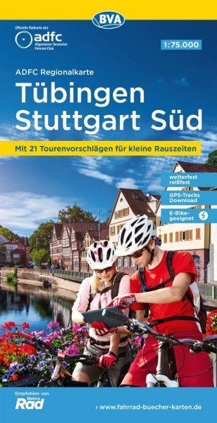 ADFC-Regionalkarte Tübingen/Reutlingen Stuttgart Süd, 1:75.000, Radwanderkarte, wetterfest