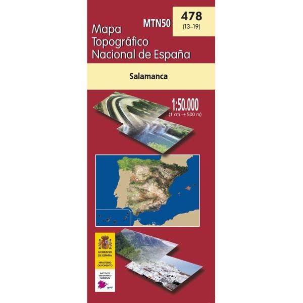 Salamanca Spanien Karte.Salamanca Topographische Karte 1 50 000 Spanien Cnig Blatt 478