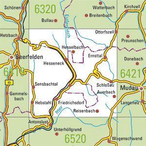 6420 MUDAU-SCHLOSSAU topographische Karte 1:25.000 Baden-Württemberg, TK25