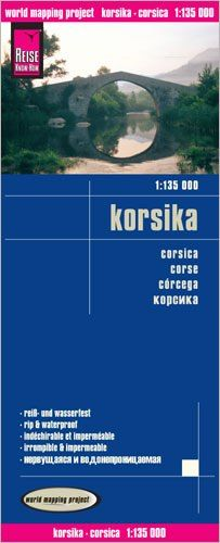 Korsika Landkarte 1:135.000, Reise Know-How