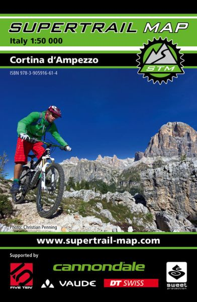 Supertrail Map Cortina d'Ampezzo Mountainbike-Karte 1:50.000, Wetterfest