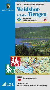 Waldshut-Tiengen Freizeitkarte in 1:50.000 - F509 mit Rad- und Wanderwegen
