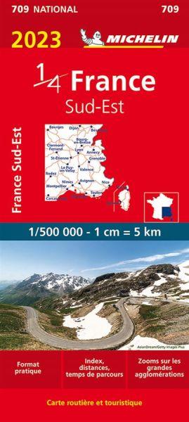 Michelin 709 Frankreich Südost Straßenkarte 1:500.000