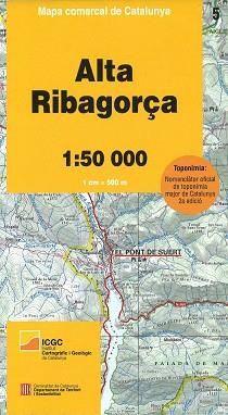 Alta Ribagorca (Pyrenäen), Katalonien topographische Karte 1:50.000, ICC 5