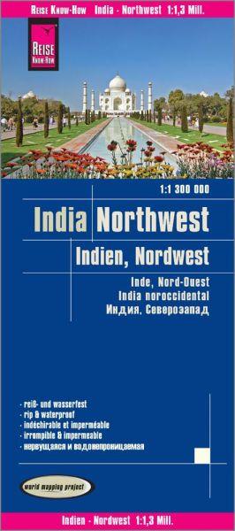 Indien Nordwest Landkarte 1:1.300.000, Reise Know-How