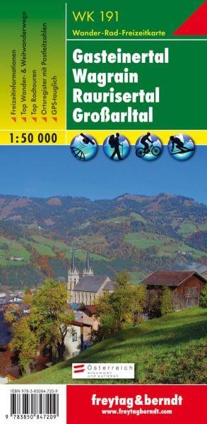 WK 191, Gasteiner Tal, Wagrain, Großarltal, Wanderkarte 1:50.000, Freytag und Berndt