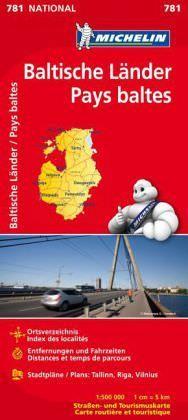 Michelin National 781 Baltische Länder Straßenkarte 1:500.000