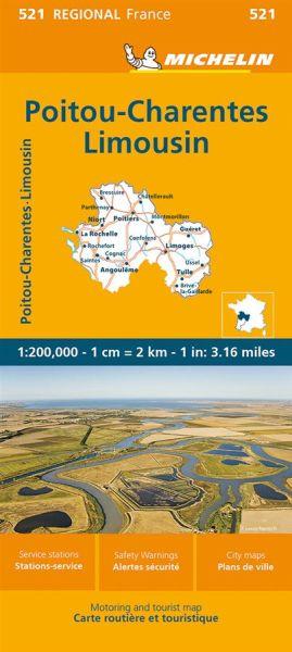 Michelin regional 521 Poitou-Charentes Straßenkarte 1:200.000